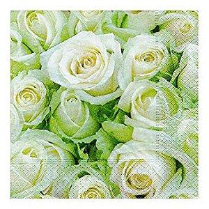 Guardanapo White Roses - Paper Design