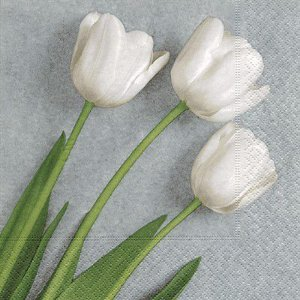 Guardanapo Three White Tulips - Paper Design