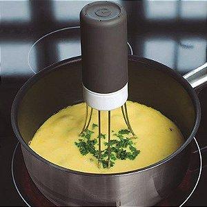 Misturador para Massas Leves e Outros Alimentos á Pilha em Plástico / Aço Inox / Silicone - Preto