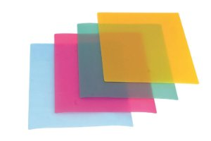 Conjunto de 4 Tábuas Flexíveis Progressive em Plástico - Verde, Amarela, Vermelha e Azul