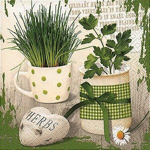 Pacote com 20 Guardanapos Herbary