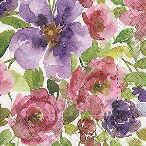 Pacote com 20 Guardanapos Watercolour Garden