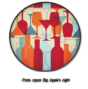 Porta copos Big Apple's night