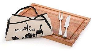 Kit Churrasco Gourmet Tools Nature . 4 peças