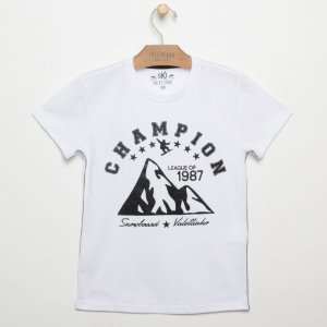 T-SHIRT CM CHAMPION VIV BRANCO