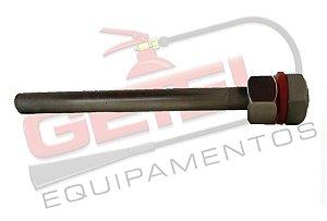 Poço Termométrico 100mm - Inox c/ Porca e Arruela de Vedação