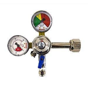 Regulador de Pressão CO2 (Reman - 1 Saída) - Válvula Esfera