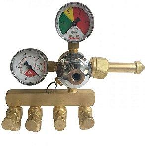 Regulador de Pressão CO2 (Reman - 4 Saídas)