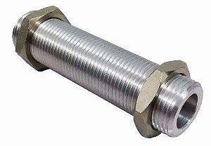 """Prolongador c/ Porca 5/8"""" - Alumínio - 9 cm"""