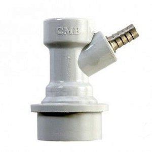 """Conector Ball - Lock para Gás ( Branco) - Espigão 1/4"""""""