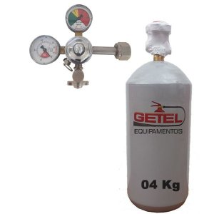 Kit Cilindro CO2 04 Kg + Regulador Saída Simples - Reman