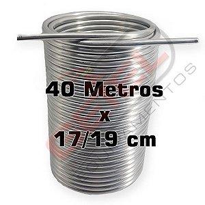 """Serpentina Dupla - Alumínio 3/8"""" - 40 Metros x 17/19 cm"""
