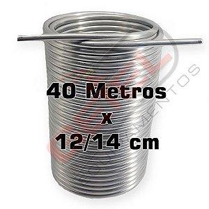"""Serpentina Dupla - Alumínio 3/8"""" - 40 Metros x 12/14 cm"""