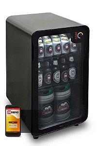 Cervejeira Memo 100 litros Frost Free Preta com Wi-fi - 220V