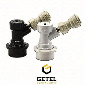 "Kit Conectores Ball-Lock p/ Líquido e Gás + Engate Rápido 3/8"""