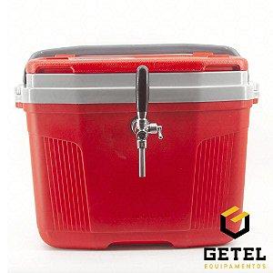 Chopeira a Gelo 1 Via - Termolar Vermelha - Torneira Italiana Cromada