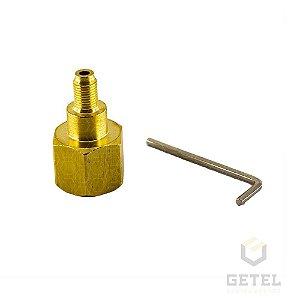"Adaptador para Cilindro ABNT 209-1 (CGA320) Fêmea para 3/8"" Macho"