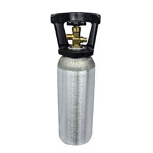 Cilindro de Gás Carbônico CO2 Aluminio - 2,3 Kg com Capacete