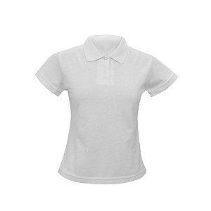 Camisa Gola Pólo Feminina Branca