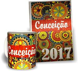 Kit Agenda 2017 + Caneca Personalizada com o Nome