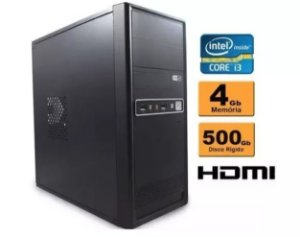 Computador Intel Core I3 4gb Ddr3 Hd 500 Sata