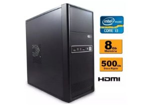 Computador Intel Core I3 8gb Ddr3 Hd 500 Sata