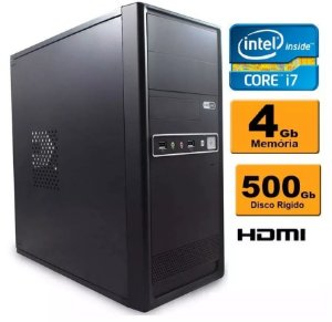 Computador Intel Core I7 4gb Ddr3 Hd 500 Sata
