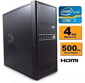 Computador Intel Core I7 4gb Ddr3 Hd 500 Sata