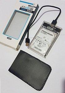 Hd Externo Samsung 500gb Usb 3.0 Novo - Case Transparente