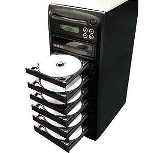 Duplicadora de DVD e Cd com 7 Gravadores Samsung