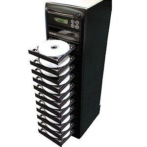 Duplicadora de DVD e Cd com 12 Gravadores Samsung - Grava Midias Dual Layer até 8.5GB