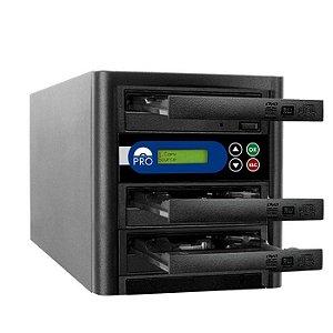 Duplicadora de DVD e CD com 3 Gravadores Liteon Premium Dual Layer
