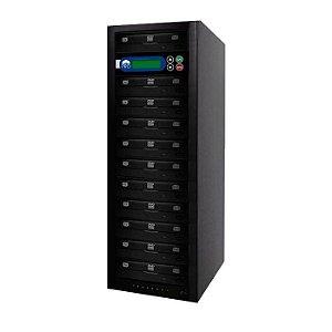 Duplicadora de DVD e CD com 11 Gravadores Philips / Lite-on