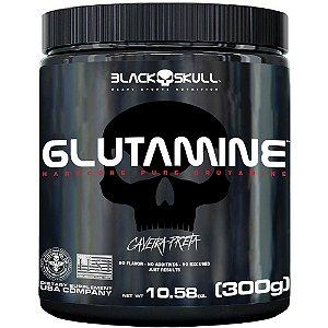 Glutamina 300g Caveira Preta - Black Skull