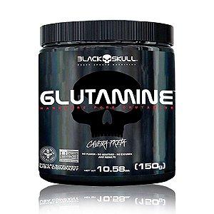 Glutamina 150g Caveira Preta - Black Skull