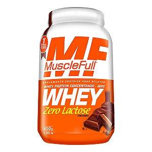 Whey Concentrado Zero Lactose 900g - Muscle Full
