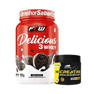 Delicious 3 Whey 900G + Creatina 150g Leader Nutrition