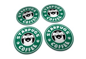 Porta Copos StarPugs Coffee