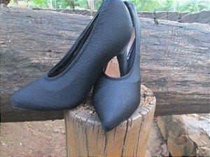 Capa para sapato - scarpin bico fino preto