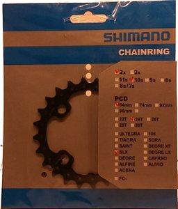 COROA SHIMANO SLX 24 DENTES FC-M675