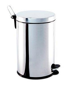 Lixeira em aço inox com pedal e balde 5 litros