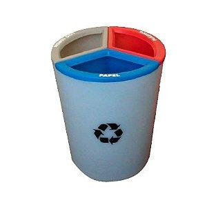 Lixeira MIX 30 litros com 3 divisões