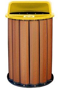 Lixeira em madeira plástica 70cm 94 litros