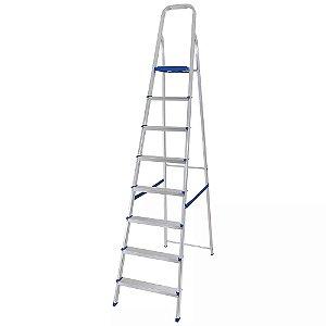 Escada em alumínio 8 degraus