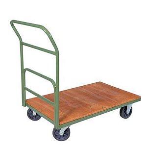 Carro plataforma lastro em madeira com 1 aba medidas 0,60x1,20m com rodízios