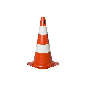 Cone em PVC 50cm laranja e branco