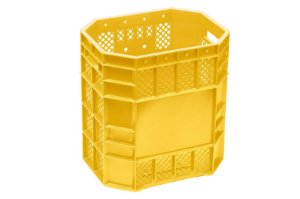 Caixa Plástica Vazada 70 Litros Amarela - PN 70