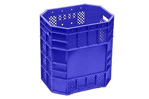 Caixa Plástica Vazada 70 Litros Azul - PN 70