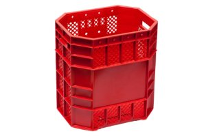 Caixa Plástica Vazada 70 Litros Vermelha - PN70