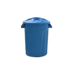 Cesto para lixo 60 litros com tampa Azul